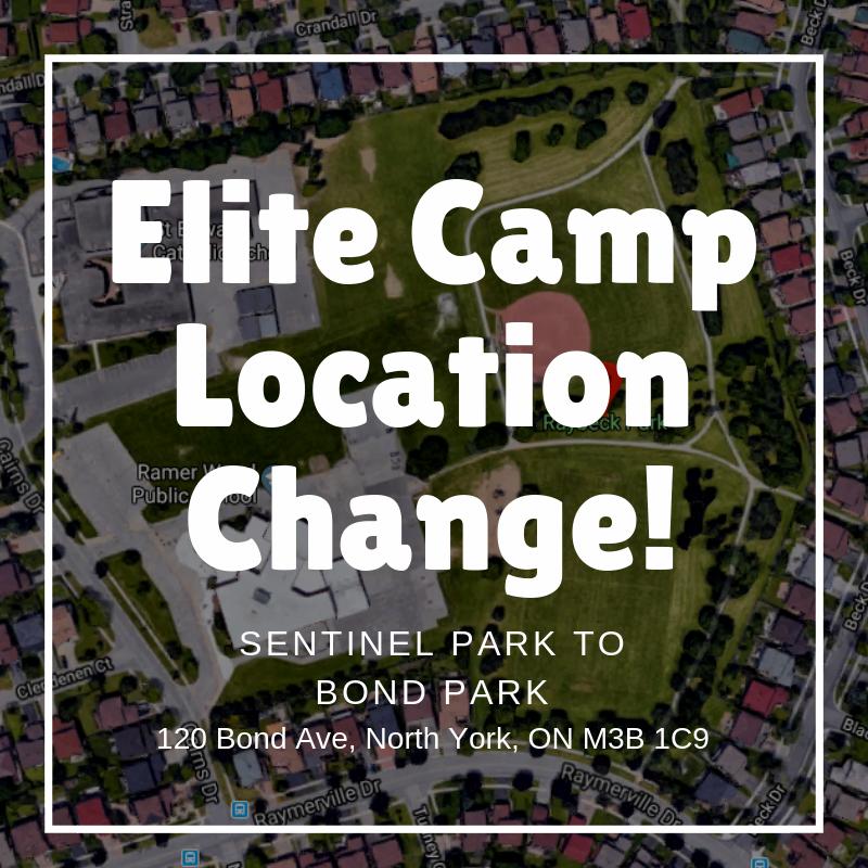 Elite Camp Location Change