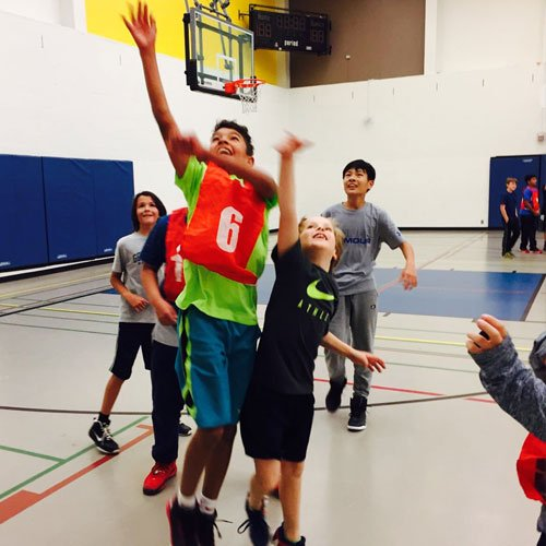 Our Toronto after school and weekend program basketball games